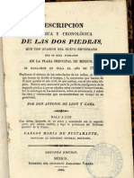 Descripción Histórica y Cronológica de Las Dos Piedras