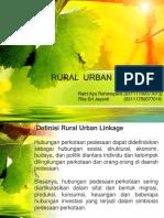 Rural Urban Linkage Presentasi Fix
