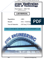 Ce6612 Concrete and Highway Engineering Lab