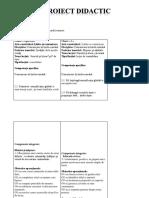 Proiect Romana a Doua Ora (Doar Prima Pagina)