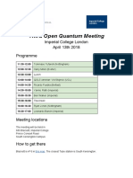 third open quantum meeting