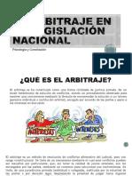 El Arbitraje en La Legislación Nacional