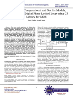 Simulation of Computational and Netlist Models, FFT analysis of Digital Phase Locked Loop using  C5 Library for MOS