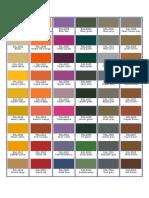 Colour Shades Ral