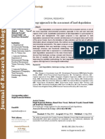 New landscape ecology approach to the assessment of land degradation