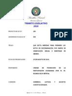 Propuesta de ley contra la homofobia - Panamá