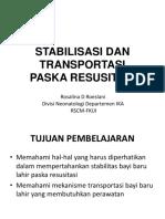 Stabilisasi & Transportasi Neonatus Pasca Resusitasi