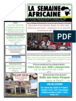 La semaine africaine n°3779 du Vendredi 30 Mars 2018