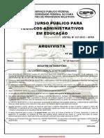 PROVA Arquivista Final - UFPA