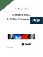 Saab R4 AIS -Operator's Manual