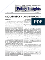 PI 2005-09 - Requisites of a Land Use Policy