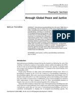 Peacebuilding Thrugh Global Peace and Justice
