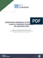 Conditions Génerale d'Intervention Pour Le Controleur Technique de Construction