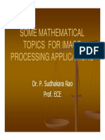 Mathematics for Image Processing