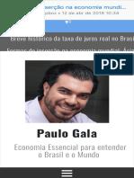 formas de inserção na economia mundial ásia x américa latina - paulo gala