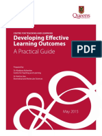 Developing Effective Learning Outcomes