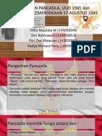Hubungan Pancasila, Uud 1945 Dan Proklamasi Kemerdekaan