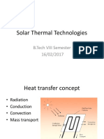 Solar Thermal Technologies