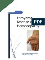 Hirayama Disease and Homoeopathy