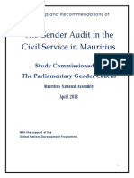 The Gender Audit in the Civil Service in Mauritius