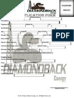 Diamondback Energy Inc Job Application Form 1-2