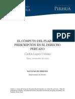 Computo Plazo Prescripcion Derecho Peruano