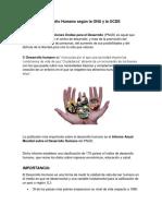 Desarrollo Humano Según La ONU y La OCDE
