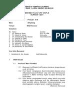Minit Mesyuarat Unit Disiplin 1 2018