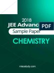JEE Advanced 2018 Chemistry Sample Question Paper2 Solution