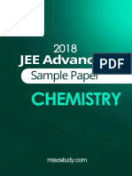 JEE  Advanced 2018 Chemistry Sample Question Paper1