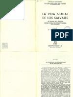 MALINOWSKI, Bronislaw. La Vida Sexual de Los Salvajes-Caps 1 y 6