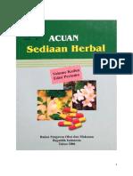 Acuan Sediaan Herbal Volume 2 Edisi I