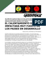 El Calentamiento Global Impact (1)