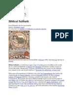 Biblical Sabbath
