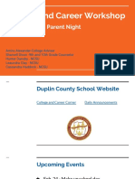 parent night - 10th and 11th grade  2