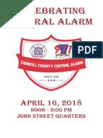 Celebrating Central Alarm Booklet/Program