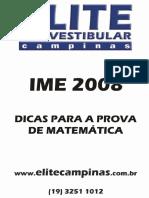 IME Dicas Matematica