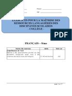 Francais 5 e