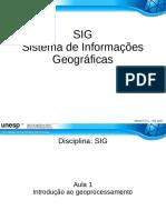 1 Introdução Ao Geoprocessamento