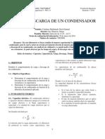 Laboratorio de Carga y Descarga de un condensador