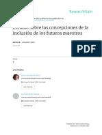 Concepciones de La Inclusión de Los Futuros Maestros