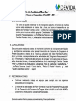 INFORME N°12  B PLAN DE MONITOREO DE FAMILIAS FUERTES ( LADO B)
