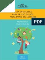Guia Didactica Matematica Cuarto Grado 2014
