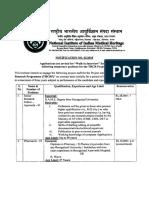 NIIMH Hyderabad Advt