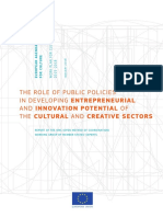 The Role of Public Policies in Developing Entrepreneurial and Innovation Potential of the Cultural and Creative Sectors.