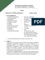Silabus (Contabilidad Basica i) Dr. Hernan Alvarez