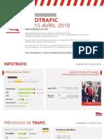 Les prévisions du trafic pour la journée du 18 avril 2018