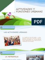 Actividades y Funciones Urbanas