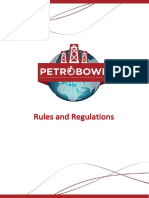 Petrobowl Rules and Regulations