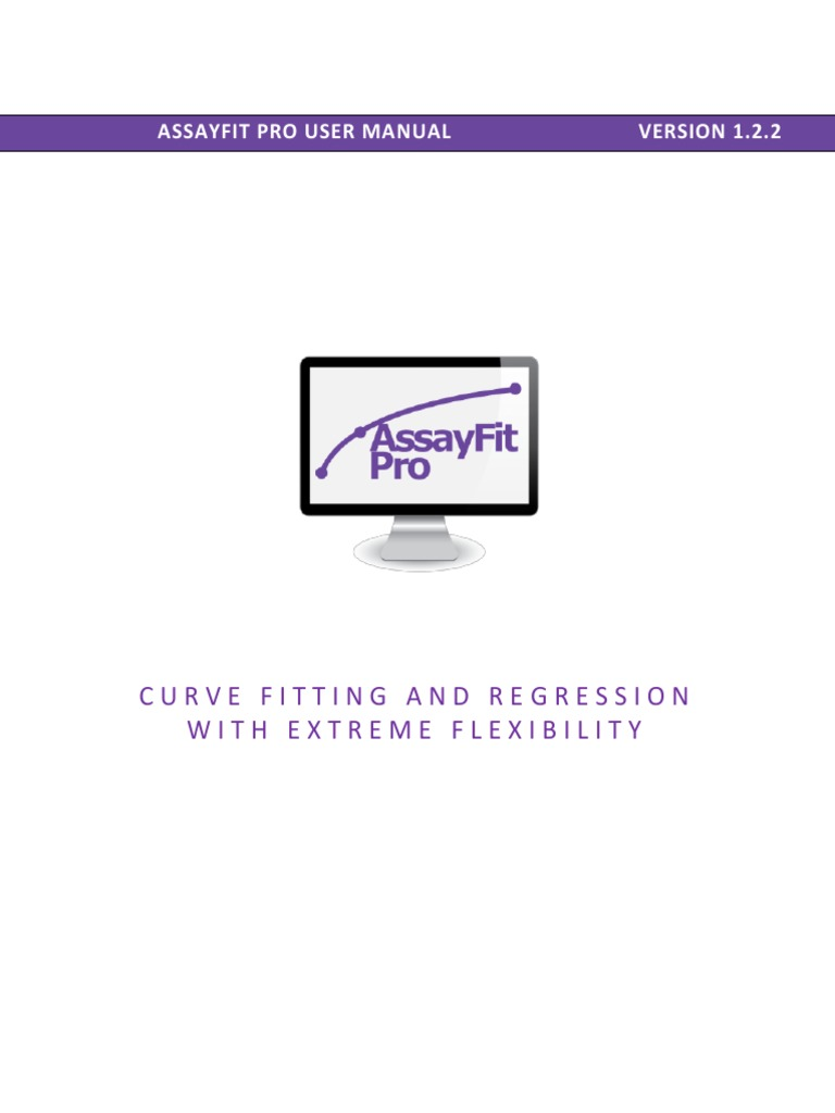 Assayfit Pro Curve Fitting Full Manual | Microsoft Excel